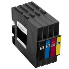 Richo GC-21 Set Black+Cyan+Magenta+Yellow (GC-21K, GC-21C, GC-21M, GC-21Y) replacement ink cartridges