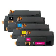 Epson Set 0611 + 0612 + 0613 + 0614 (C13S050611, C13S050612, C13S050613, C13S050614). Compatible Toner Cartridges  (not Epson Original).