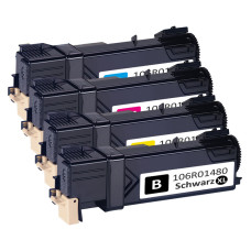 Xerox Phaser 6140 Set 4-pack (106R01477, 106R01478, 106R01479, 106R01480) 8600 pages. Compatible (not Xerox original) Toner Cartridges. Free Delivery!